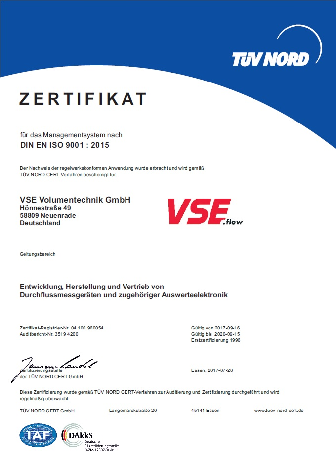 VSE now complies with new quality management system DIN EN